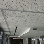 luminarias encastradas en techo perforado