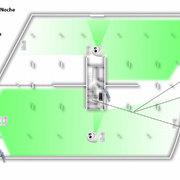 Instalación cámaras con control en parking con automático de encendido de luces