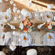 Mesa de boda de invierno