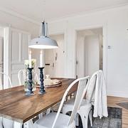 mesa madera y blanco comedor