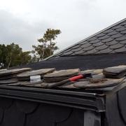 Impermeabilización de un tejado de pizarra