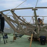 Instalación de Antena parabólica de 7 metros para aplicaciones militares