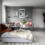 Salón en gris y colores