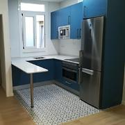 Muebles en azul neutro