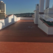 Retirada de tejado de amianto y construcción de terraza.
