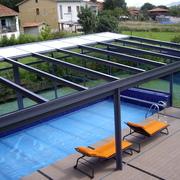 ortina de cristal con aislamiento térmico y techo móvil Kauma