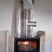 Instalación de insertable de leña y canalizacion de aire caliente