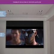 Instalación de un cine en un domicilio particular