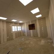 Paredes con aismiento termico acustico y techo desmontable