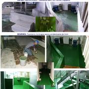 pavimento continuo de resina epoxi en bodega aceite