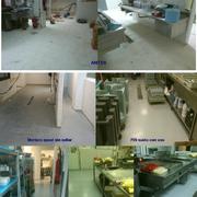 pavimento resina epoxi en cocina y cámaras hotel