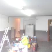 Pintado De Garaje En Dos Colores