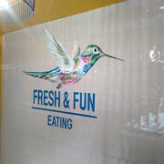 Pintura decorativa para restaurante Rawcoco