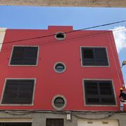 Pintura exterior de fachada trabajo vertical