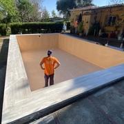 Reparación con Liner de piscina vieja, y cambio de borde.