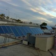 Placas solares solar termica restaurante Juan XXIII