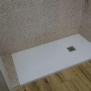 Plato de ducha de pizarra blanco