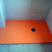 plato de ducha de resina, color naranja