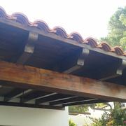 Ejecución de porche de madera, Castellón
