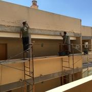 Preparacion superficie fachada