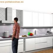 Cocina lineal Blanca