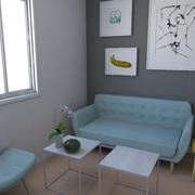 Proyecto de reforma de un piso de alquiler_Sala de estar.