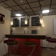 Proyecto e Infografia para nueva Cafeteria - Interior 3D
