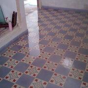 Pulido y abrillantado de mosaico hidraulico.