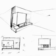 Revestimiento Chimenea Villa-real. Bocetos 1