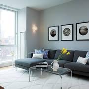 Salón con combinación de varios grises
