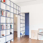 salón con mueble-tabique