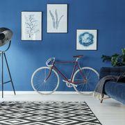 Salón vintage en azul