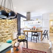 salón y cocina funcional