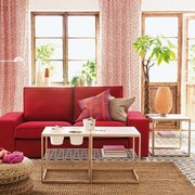 sofá en rojo