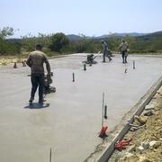 Construcción solera de hormigón para Casa de Madera