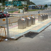 Soterramiento de contenedores en Entrambasaguas, Cantabria