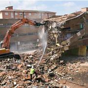 Tareas de demolición.