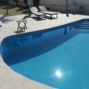 Colocacion de soleria piscina
