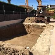 terminando la escavacion