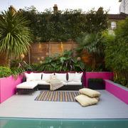 terraza con jardinera de obra