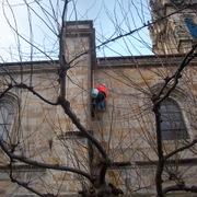 Trabajos verticales en La Basilica de Begoña-Bilbao.