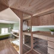 vestidor de interior de madera