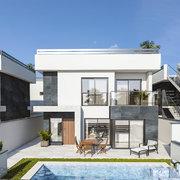 Tres villas de lujo y cuatro apartamentos en Los Alcázares