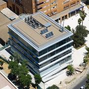 Vista aerea de la cubierta del edificio.