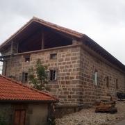 Vista con cubierta y fachada realizadas