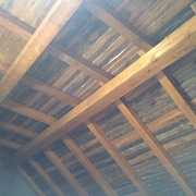 Vista interior de madera