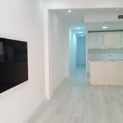 Vista parcial Salón-Cocina y Pasillo
