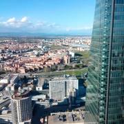 Vistas desde la planta 36 de Torre Cristal