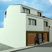 Proyecto de vivienda unifamiliar adosada y piscina