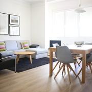 zona descanso salón minimalista